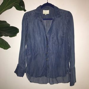 Elevenses Anthropologie Tencel Denim Shirt S